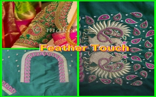 FEATHER TOUCH BLOUSE DESIGNER