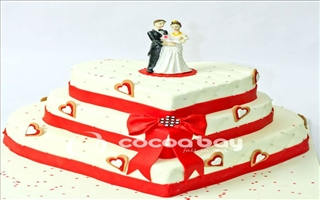 Wedding Cakes - White Forest - 5 Kgs - Heart